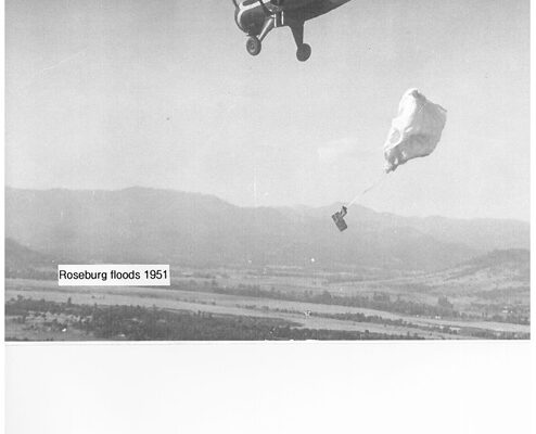 ROSEBURG FLOODS SUPPLY DROP 1951